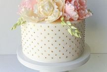 pretty cakes and flowers