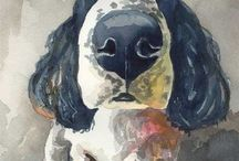 Paintings of dogs / cats / by An Ette