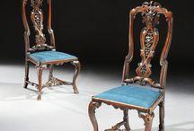 George 1st Walnut side chairs Circa 1720