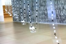 "100 METROS DE DO MAYOR (694 octavas) /  100 metros de Do mayor ( 694 octavas),  2014. Paint on transparent PVC film, ink and pencil on paper. Variable dimensions Installation view: ""La Vietnamita"" exhibition at Espacio OTR. Madrid, Spain, 2014) / by Ana Pérez Ventura"