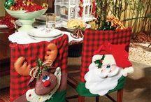 sillas navideñas