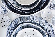 Blauw wit keramiek