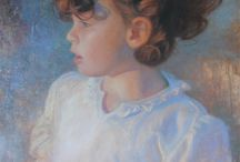 Portraits with Personality / When painting portraits, particularly realistic ones, capturing the heart of the personality is so important! (Note: All work by DJ Cleland-Hura)