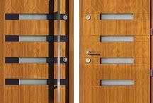 Drzwi zewnętrzne złoty dąb