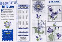 Cross stitch patterns - flowers