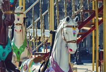 Merry Go Rounds and Ferris Wheels / Beautiful merry go rounds and ferris wheels