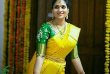 contrast blouse and sarees
