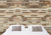 Muur / Zelfklevend hout