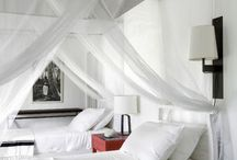 Karen mosquito nets over beds