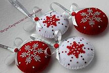 vanocni dekorace z filcu