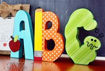 School Crafts 2015 / Our unfinished Teacher Appreciation/Back to School Crafts
