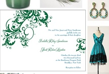 Peacock Bule and Lime Green Wedding Colors