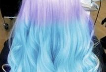 Long hair which starts off with the colour purple and then it goes to blue. MERMAID HAIRRRRR / Long hair which starts off with the colour purple and then it goes to blue. MERMAID HAIRRRRR