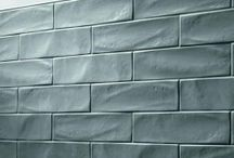 Textured Tiles / Textured tiling is the perfect backdrop for minimal and modern accessories