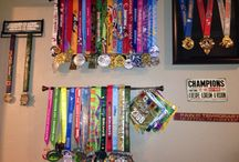 running medal display / by Bobbi Aulabaugh