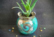 Raku Planter Pots