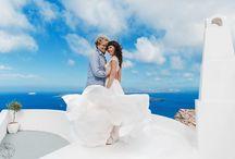 Санторини свадьба! / Сказочная свадебная история на острове Санторини.
