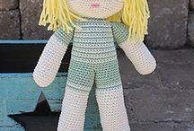 bonecos em croche