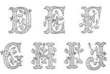 Alfabet mooie letters.