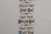 Cross Stitch - Religious / by Angela Wall