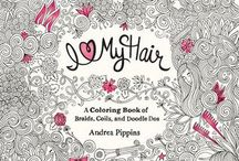 #IHeartMyHair / coloring, adult coloring book