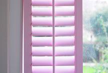 Pastel colour window shutters