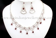 Diamante Necklace Sets with Matching Earrings / ladies diamante and crystal necklace and earring sets