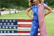 Perfect Sewing Patterns for Patriotic Holidays! / A collection of sewing patterns suitable for sewing outfits for all patriotic holidays such as Memorial Day, 4th of July, Labor Day and any other patriotic event.