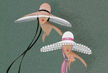 Porracchia / Inspiration from fashion illustrator Marguerite Porracchia (1901 - 1988)