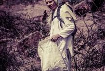 Indradyumna Swami Cleaning Sri Giriraj Hill - 2013