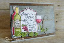 Half Full (wine stamp set)