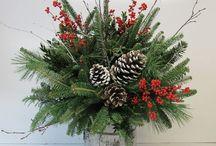 karácsonyi asztaldíszek+ajtó díszek