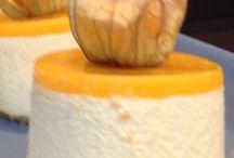 Mango cheese cakes