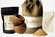 Kava Ceremony Kits / These kits include what you need for a kava ceremony anywhere you please, conveniently packaged in a small, rustic burlap sack.