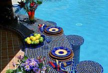 Swimming, relax, beauty