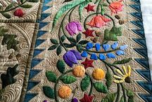 Applique quilts and sewing