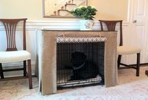 Dog Crate / Fabulous way to conceal an unsightly dog crate - Hundehutte