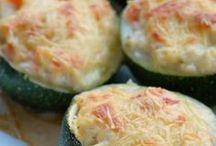 Courgettes farcies au saumon fumé