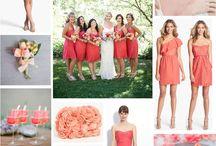 Wedding colors / Coral wedding ideas