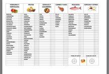 tabla alimentos infantiles