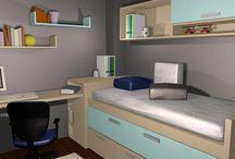 Diseño juvenil D39 / Diseños de dormitorios juveniles.