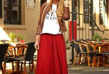 Outfit / Maxi with leather jacket