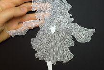 Hand Cut Paper Art. Maude White