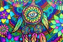 Trippy Art / Psychedelic Dream Catcher