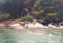 Summer 2014 / collection of both over and underwater photographs taken with a disposable camera in Croatia: sea, ocean, boats, people, summer, holiday, sun, ocean, fun, water, boats, 2014