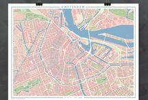 Mapas de ciudades vintage / Mapas con un diseño y color vintage: un delicioso aire retro para recordar una ciudad especial.