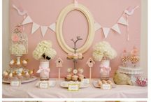 Baby Shower / Rustic/shabby chic (CORAL, burlap, and lace). / by N Elder