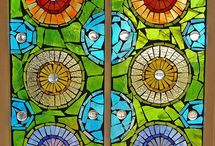 Architecture - Stained Glass Art / A Colorful View Through Unique Stained Glass.... Doors, Windows, All Things Stained Glass / by Ginny Toll