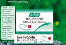 A. Vogel Bio-Propolis® / Αλοιφή με πρόπολη για την καταπολέμηση του επιχείλιου έρπητα σε οποιοδήποτε στάδιο εξέλιξης των συμπτωμάτων. Μειώνει το χρόνο επούλωσης και σχηματίζει προστατευτική στρώση στην πάσχουσα περιοχή.  http://www.avogel.gr/product-finder/avogel/biopropolis.php www.avogel.gr