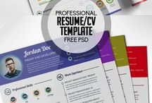 Free Professional Resume CV Template Free PSD